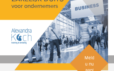 8-15-16 november 2018   Zakelijk Duits voor ondernemers