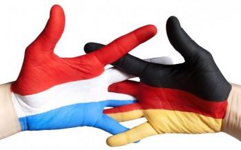 Sprong over de grens naar Duitsland
