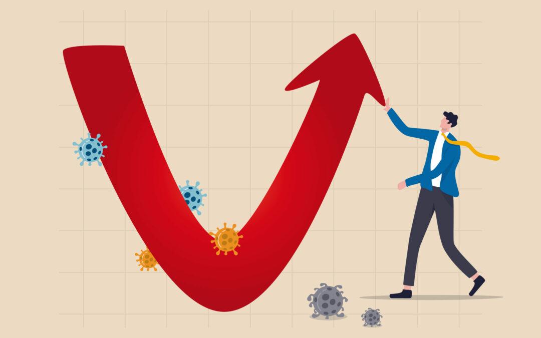 Economisch herstel in 2021 na coronajaar 2020.